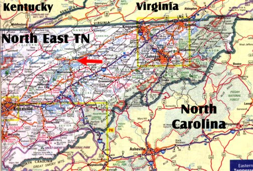 Fias Co Farm Where Are We Located - East tennessee map